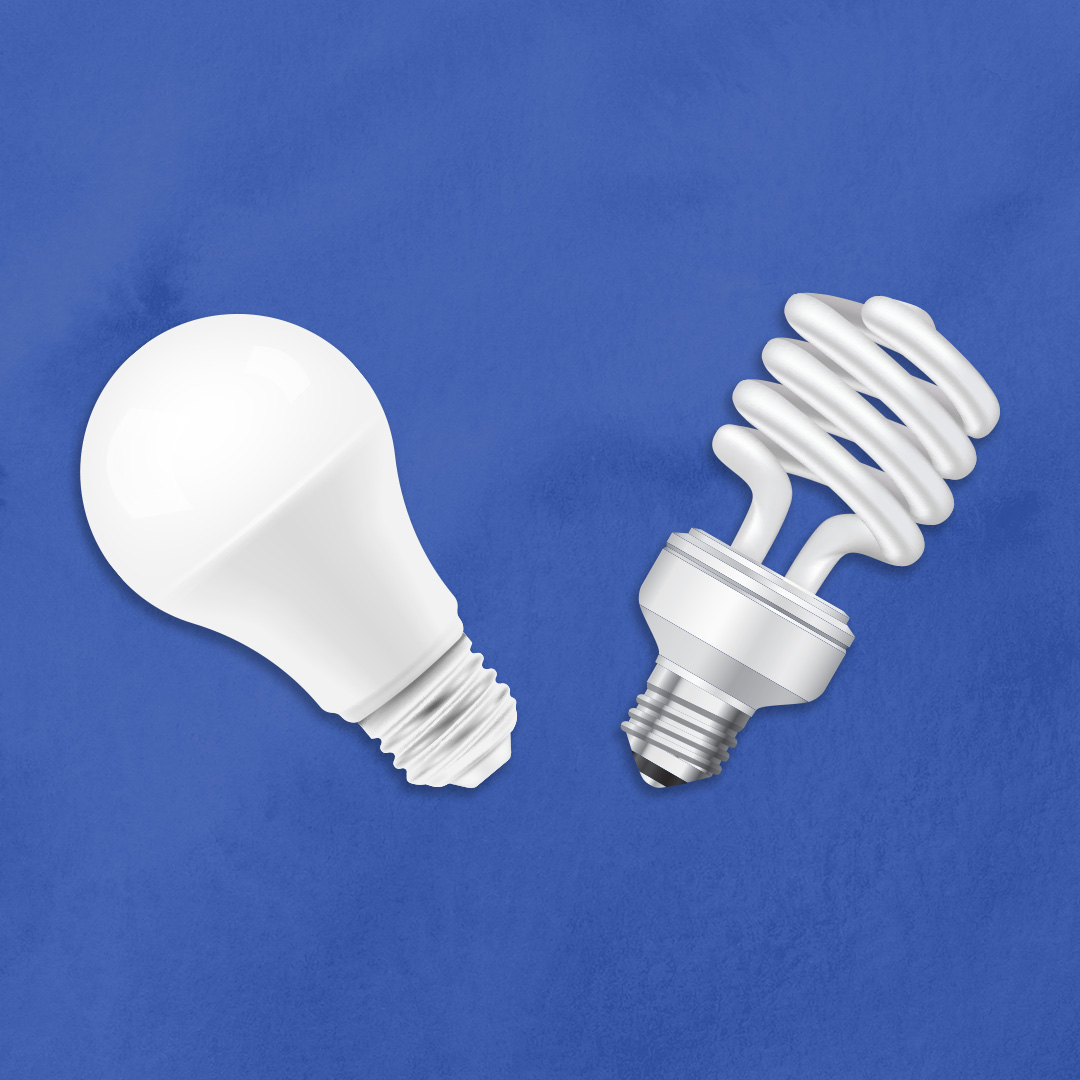 leds vs fluorescent bulbs