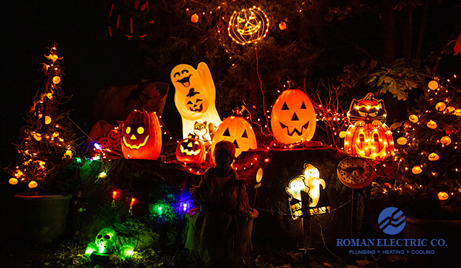 halloween lighting and extension cord safety